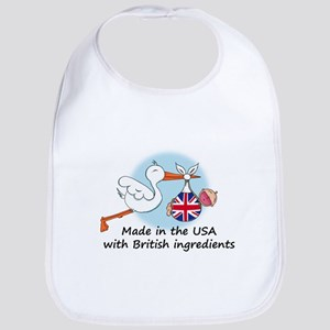 Stork Baby UK USA Bib