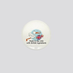 Stork Baby UK USA Mini Button