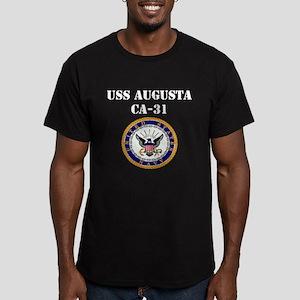 USS AUGUSTA Men's Fitted T-Shirt (dark)