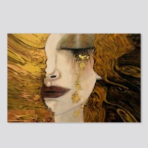 Woman with a Golden Tear Postcards (Package of 8)