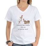 No Matter What (LATTE) Women's V-Neck T-Shirt