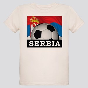 Football Serbia Organic Kids T-Shirt