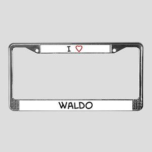 I Love waldo License Plate Frame