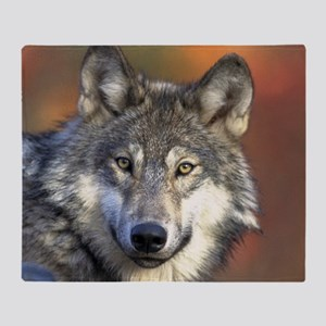 Wolf 024 Throw Blanket