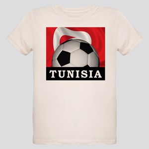 Tunisia Football Organic Kids T-Shirt