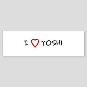 I Love Yoshi Bumper Sticker
