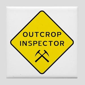 Outcrop Inspector Tile Coaster