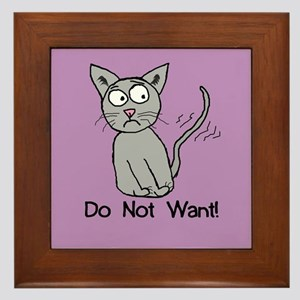 Do Not Want! Framed Tile
