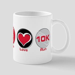 Peace Love Run 10K Mug