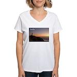 Byron Bay Lighthouse Women's V-Neck T-Shirt