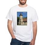 White River Lighthouse White T-Shirt
