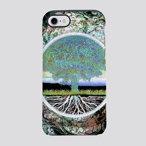 Shiny Green Foil Look Tree by  iPhone 7 Tough Case