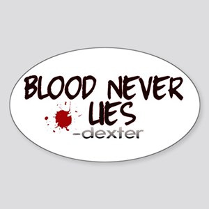 Blood Never Lies Oval Sticker