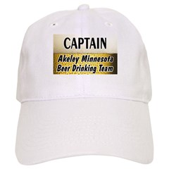 Akeley Beer Drinking Team Baseball Cap