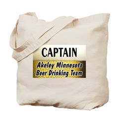 Akeley Beer Drinking Team Tote Bag