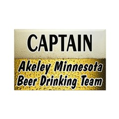 Akeley Beer Drinking Team Rectangle Magnet