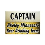 Akeley Beer Drinking Team Rectangle Magnet (100 pa
