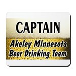 Akeley Beer Drinking Team Mousepad