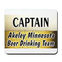 Akeley Beer Drinking Team Mousepad
