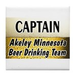 Akeley Beer Drinking Team Tile Coaster
