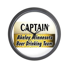 Akeley Beer Drinking Team Wall Clock
