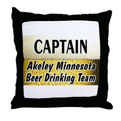 Akeley Beer Drinking Team Throw Pillow