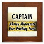 Akeley Beer Drinking Team Framed Tile