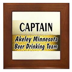 Akeley Beer Drinking Team Framed Tile