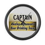 Akeley Beer Drinking Team Large Wall Clock