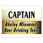 Akeley Beer Drinking Team Small Poster