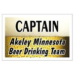 Akeley Beer Drinking Team Large Poster