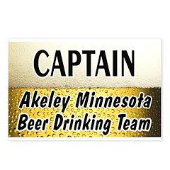 Akeley Beer Drinking Team Postcards (Package of 8)