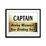 Akeley Beer Drinking Team Framed Panel Print