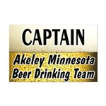 Akeley Beer Drinking Team Mini Poster Print