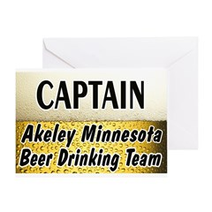 Akeley Beer Drinking Team Greeting Card