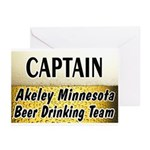 Akeley Beer Drinking Team Greeting Cards (Pk of 20