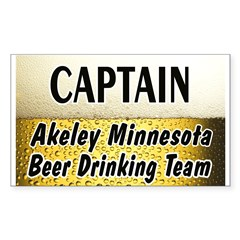 Akeley Beer Drinking Team Rectangle Decal