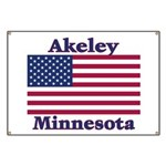 Akeley US Flag Banner