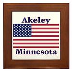 Akeley US Flag Framed Tile