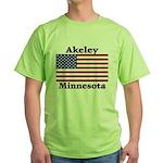Akeley US Flag Green T-Shirt