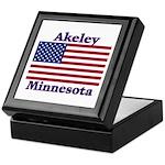 Akeley US Flag Keepsake Box