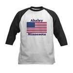 Akeley US Flag Kids Baseball Jersey