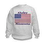 Akeley US Flag Kids Sweatshirt