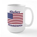Akeley US Flag Large Mug