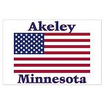 Akeley US Flag Large Poster