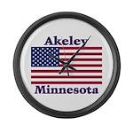 Akeley US Flag Large Wall Clock