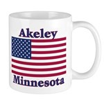 Akeley US Flag Mug