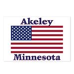 Akeley US Flag Postcards (Package of 8)