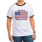 Akeley US Flag Ringer T