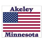 Akeley US Flag Small Poster